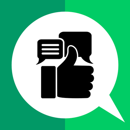 estimate: Thumb up silhouette. Appreciations, estimate, recognition, value. Appreciation concept. Can be used for topics like business, startup, rating, e-commerce Illustration