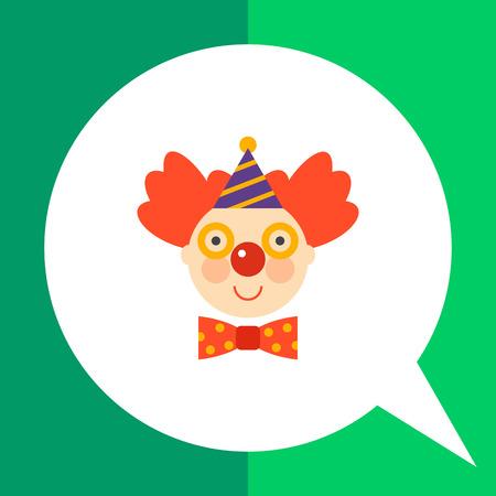 joking: Icon of smiling clown face