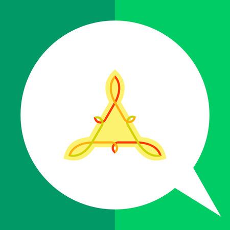 knotwork: Multicolored icon of Celtic knots of triangle shape
