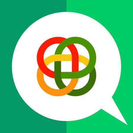 a loop: Multicolored vector icon of loop Celtic ornament Illustration