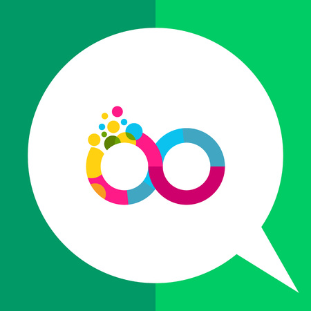 continuation: Multicolored vector icon of colorful infinity sign