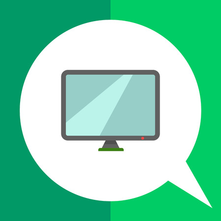 Icon of computer monitor Illustration