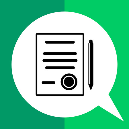 signing: Document and pen. Contract, agreement, conclusion, signing, document, deal. Contract concept. Can be used for topics like business, negotiation, deal