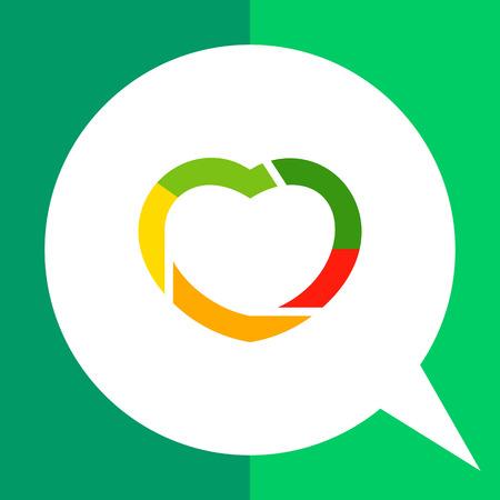 Multicolored vector icon of heart shape for creative