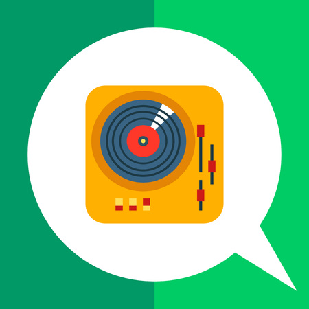 Icon of deejay vinyl record player