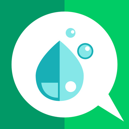 Multicolored vector icon of liquid drops Illustration