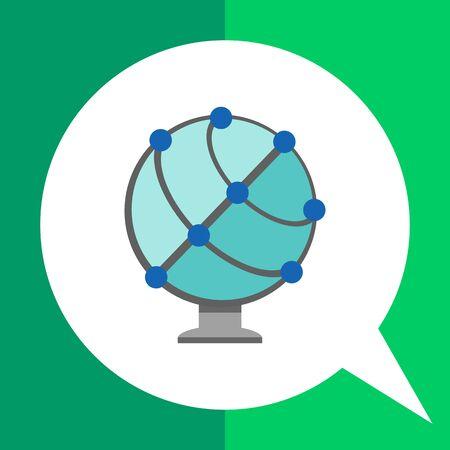 Icono de globo terráqueo esquemática Vectores