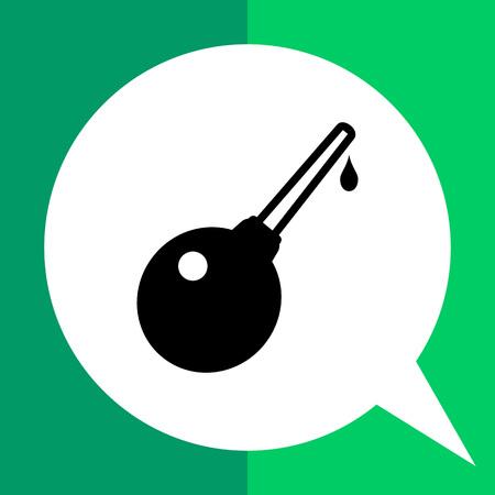 einlauf: Enema einfaches Symbol. Schwarz-Weiß-Vektor-Illustration von Klistier
