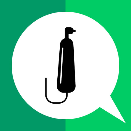 cord: Vector icon of electric toothbrush with cord Illustration