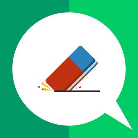Multicolored vector icon of rubber erasing line