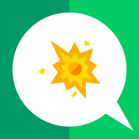 cartoon bomb: Multicolored vector icon of cartoon bomb explosion