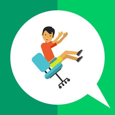 slip homme: Multicolores icône de l'homme vecteur tomber de la chaise Illustration