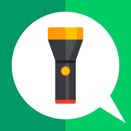 incandescent: Flashlight icon Illustration