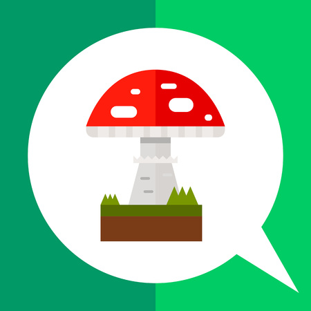 agaric: Multicolored vector icon of poisonous mushroom fly agaric