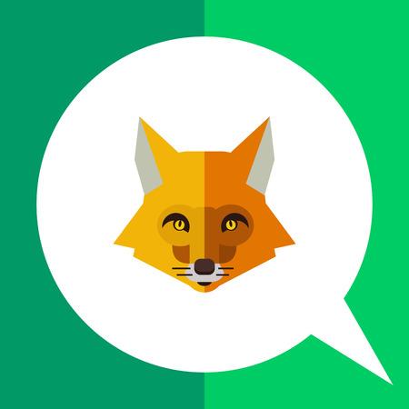 Multicolored vector icon of red fox head