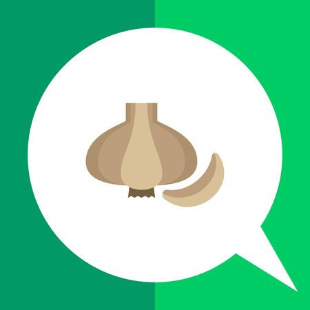 garlic clove: Multicolored vector icon of whole fresh garlic bulb and clove Illustration