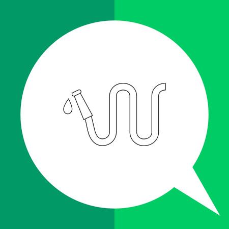 water hose: Garden hose icon. Vector illustration of garden hose with water drop Illustration