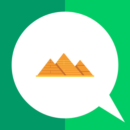 ancient civilization: Giza pyramids icon Illustration