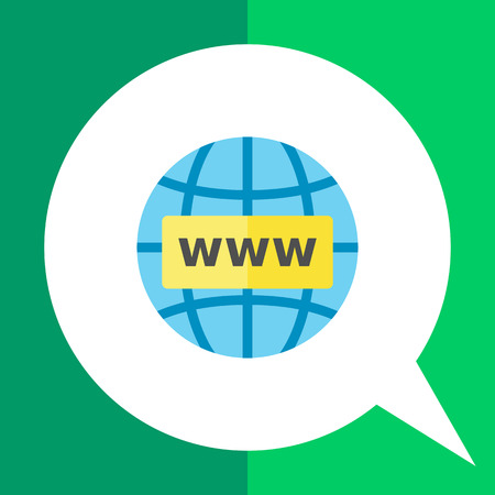 www concept: Globe with www in front of it. Internet concept. Storage, exchange, downloading. Can be used for topics like Internet, business, technology.