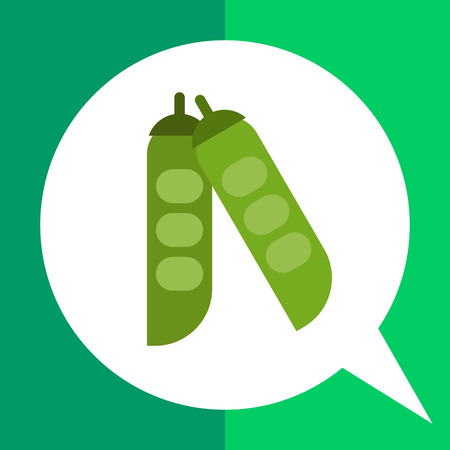 Vector icon of green peas in pea pods