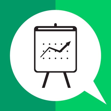 uptrend: Icon of growing graph on stand
