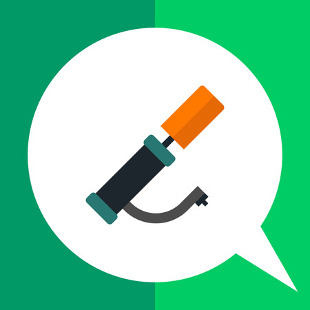 inflating: Multicolored vector icon of hand air pump Illustration