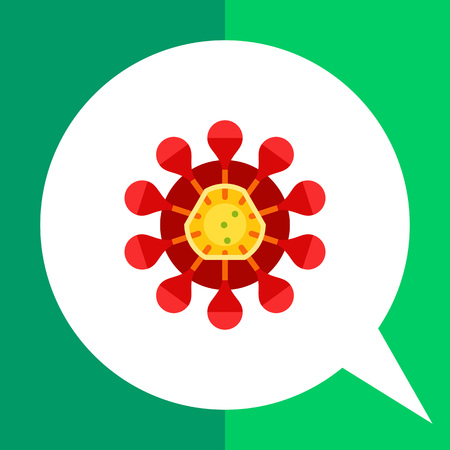 Coronavirus flat icon. Multicolored illustration of virus with crown-like spikes caused respiratory infections