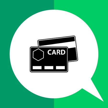 paying bills: Icon of credit cards Illustration