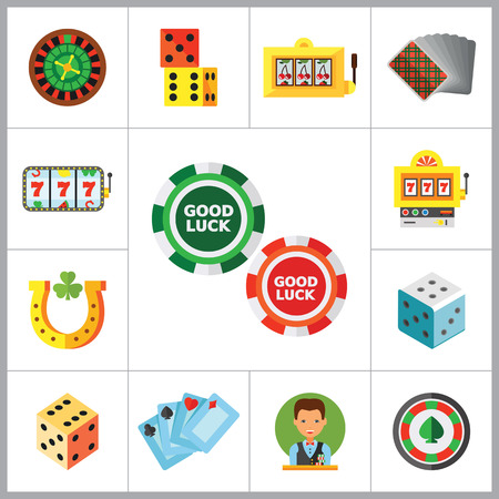 display machine: Casino Icon Set. Roulette Poker Chips Dice Slot Machine Display Playing Cards Slot Machine Casino Dice Croupier Casino Symbol Cards Suits Horseshoe And Shamrock Jackpot