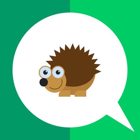Cute smiling hedgehog icon