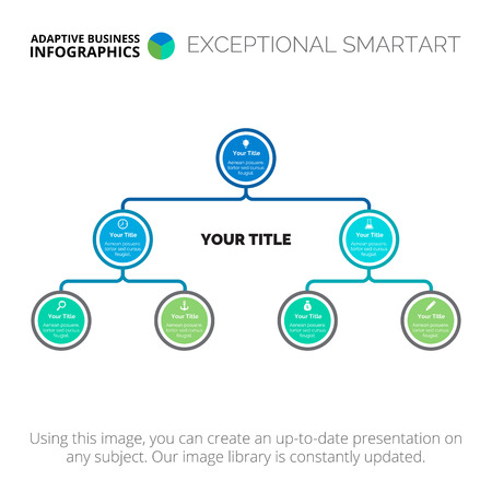 Structure diagram. Element of tree chart, presentation, diagram. Concept for organizational chart, business templates, presentation. Can be used for topics like management, strategy, teamwork