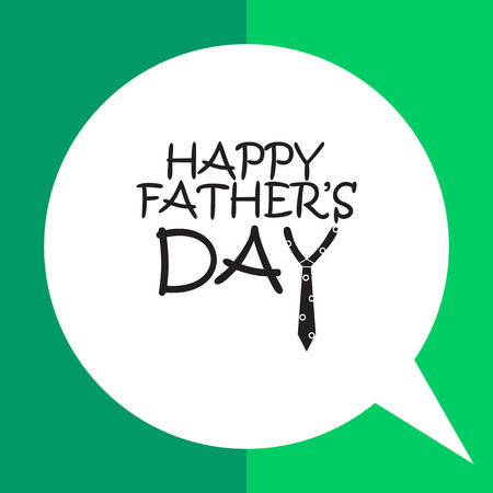 wishing card: Black happy fathers day inscription with Y letter in form of necktie
