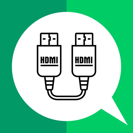 interconnect: Icon of HDMI to HDMI cable