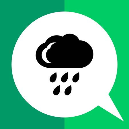 Icon of cloud and falling raindrops