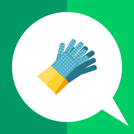 gripper: Multicolored vector icon of pair of household gloves with gripper dots on fingers and palm Illustration