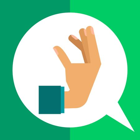 human hand: Multicolored vector icon of human hand showing gesture