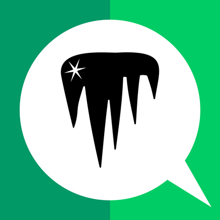 Vector icon of shining icicles representing ice concept