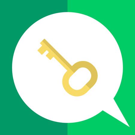 hospedaje: Icono de la llave de la puerta en el círculo Vectores