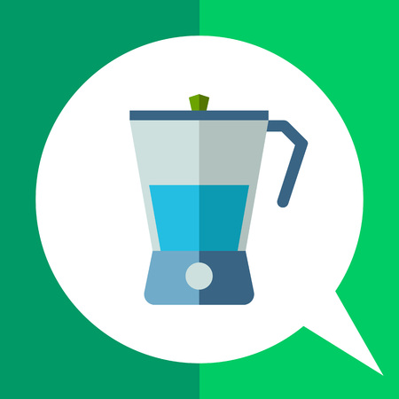Multicolored vector icon of kitchen blender with blue liquid
