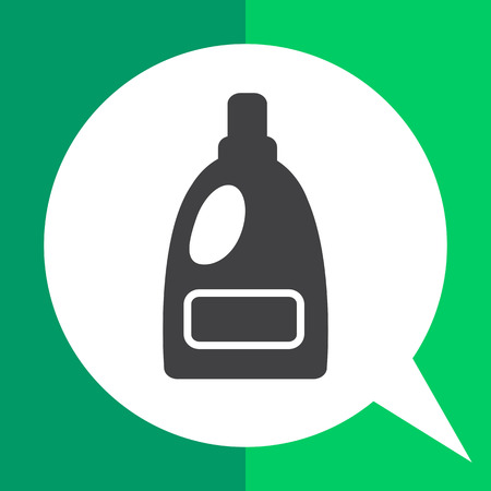 bleach: Icon of plastic bottle of liquid laundry detergent