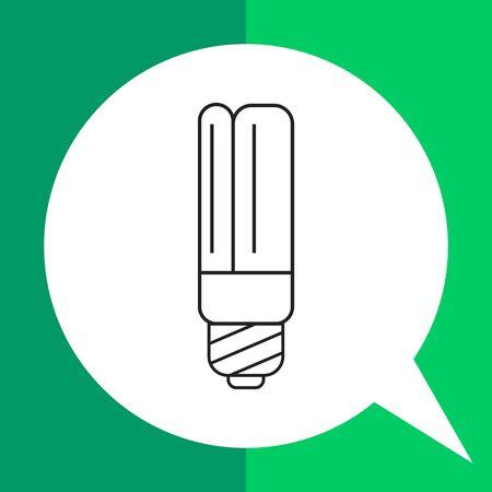 led: Line icon of led lamp