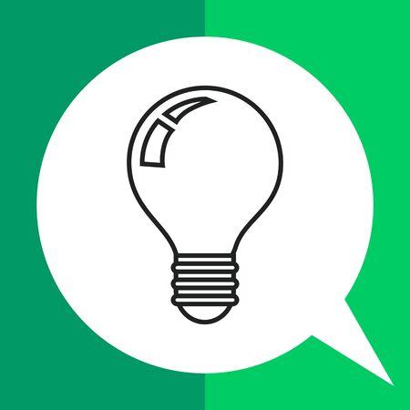 Lightbulb icon, outline Illustration