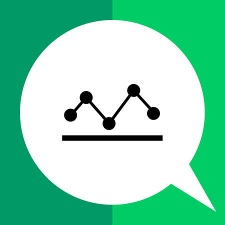 points: Vector icon of two line graphs with points