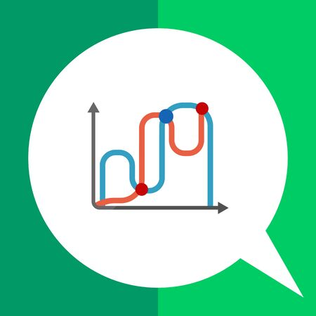 Icon of two line graphs Illustration