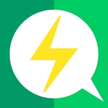 Icon of lightning sign Illustration