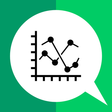 Line histogram icon