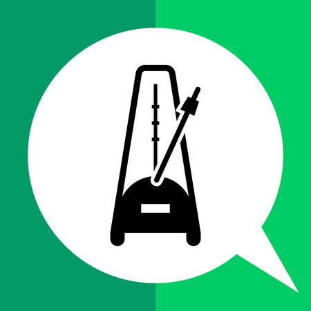 metronome: Vector icon of metronome with moving pendulum