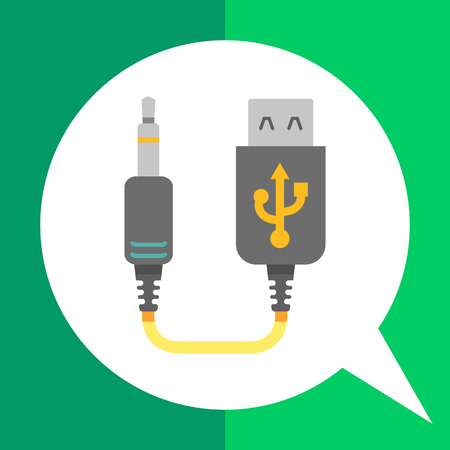 input device: Icon of mini USB to jack cable