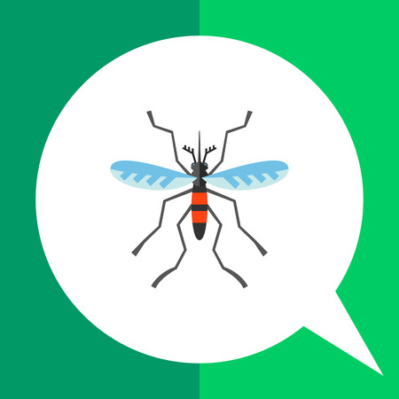 in common: Mosquito icon. Multicolored vector illustration of mosquito, common flying insect Illustration