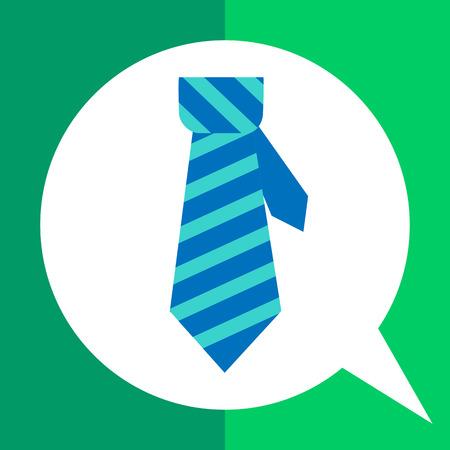 necktie: Icon of necktie in square Illustration